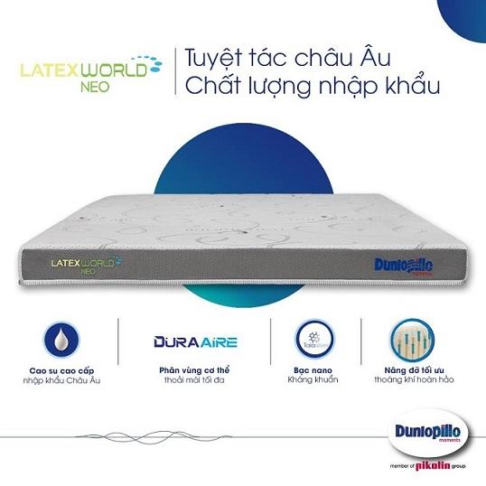 Đệm cao su Dunlopillo Latex World Neo 13