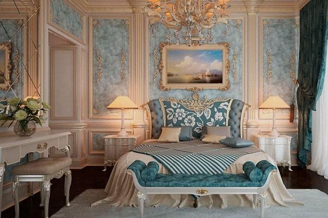 Chọn đệm lò xo Dunlopillo cho nội thất Baroque cổ điển tráng lệ